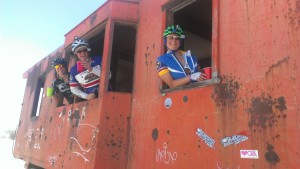 train car on the Joshua Tree Double Century