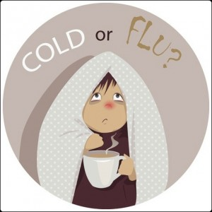 cartoon lady with a cold