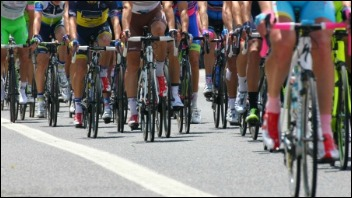 photo of a bicycle race