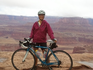 Lisa in Moab.